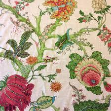 cv104 retro linen floral tropical garden upholstery drapery home