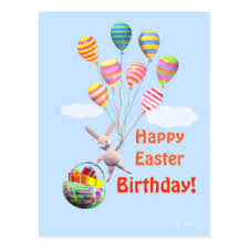 happy birthday easter bunny cards u0026 invitations zazzle co nz