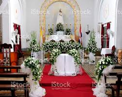 church altar decorations decorated altar stock photo more pictures of aisle istock
