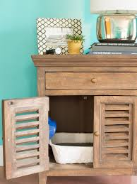 Kitty Litter Bench How To Conceal A Litter Box In A Table Hgtv