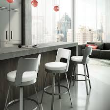 Red Bar Stools With Backs The Benson Bar Stool Features A Rounded Back With Upholstered