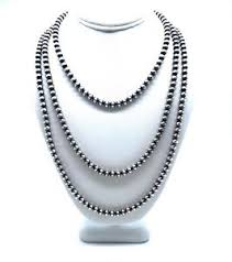 bead necklace ebay images Navajo pearls sterling silver 5mm beads necklace ebay jpg