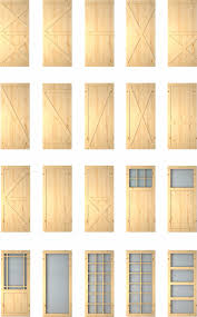 Pine Barn Door by White Painted Solid Shaker Style Wood Barn Entry Doors Wood Door