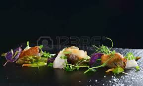 cuisine gourmet molecular high end gastronomy kitchen highend culinary stock