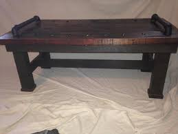 Pipe Coffee Table by Pallet Coffee Table With Metal Pipe Handles 99 Pallets