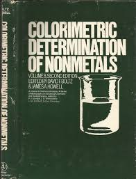 Applications Of Colorimetry In Analytical Chemistry Buy Colorimetric Determination Of Nonmetals Chemical Analysis