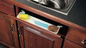 kitchen sink cabinet doors create storage with a tip out tray kit