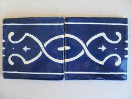 Decorative Tile Borders Reeso Tiles 25 Tb10 Talavera Decorative Border Tile In Blue 4x4