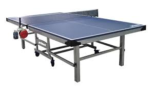 Prince Challenger Table Tennis Table W Bonus Accessory Rack Blue