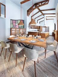 sala da pranzo country sala da pranzo con una cucina in stile country moderna