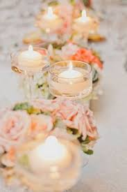 Wedding Centerpieces Floating Candles And Flowers by Les Fleurs Floating Candle Centerpieces Blush Pink Silver