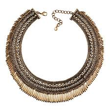 gold color necklace images Jane stone luxury antique gold color tassels choker necklace jpg