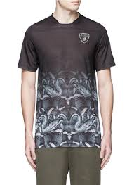 lamborghini clothing marcelo burlon u0027lamborghini u0027 snake print t shirt in black for men