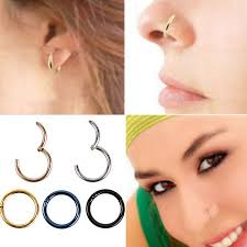 nose rings images 5 pc stainless steel nose ring piercing nose hoop clicker ring jpeg