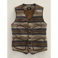 Ralph Lauren Blankets Rrl Domingo Blanket Stripe Vest For Men Lyst