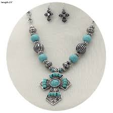 turquoise stone necklace turquoise necklace wholesale western jewelry beaded turquoise