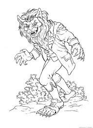 Halloween Colouring Printables Werewolf Coloring Pages Google Search Coloring Pages