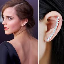 earrings girl 1 pcs fashion zircon clip earrings with stud for