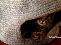 knitting pattern cat cave by jenni designs free crochet pattern marley s cat cave or bed