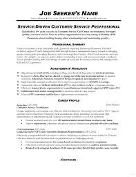 customer service resume objective for resume for customer service