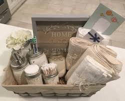 House Warming Wedding Gift Idea Closing Basket Housewarming Basket Wedding Gift Bathroom