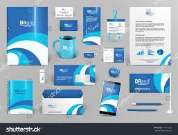 blue branding design kit identity template stock vector 413712355