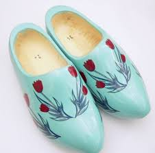 dutch wooden shoes with red tulips clogs with tulips the dutch