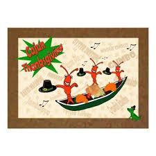 crawfish pilgrims cajun thanksgiving custom invitation