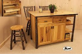 hickory kitchen island amish made and adirondack style kitchen islands new york