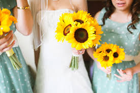 sunflower wedding aqua and sunflower wedding ruffled