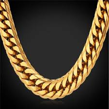 long chunky chain necklace images Heavy 13mm 28 39 39 black gun gold plated silver stainless steel jpg