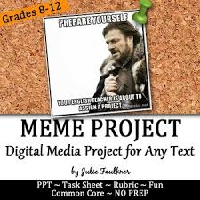 Julie Meme - meme project for modern text based fun with literature media