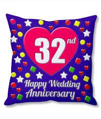 32nd wedding anniversary photogiftsindia 32nd wedding anniversary cushion cover buy