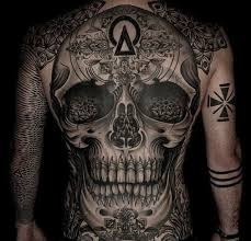 Back Pieces Tattoos Ideas On Tatluv Skulls Back Pieces Black And Grey