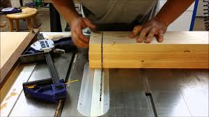 On Table How To Cut Thick Wood On A Table Saw Youtube