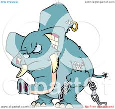royalty free rf clip art illustration of a cartoon evil elephant