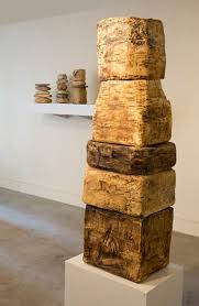 contemporary wood sculpture artists renee iacone installation wood sculpture