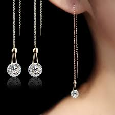 stud earrings for women ustar 2 0 ct aaa zircon stud earrings for women chain