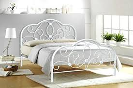 Double Bed Frame Prices 4ft6 Double White Metal Bed Frame Alexis Amazon Co Uk Kitchen U0026 Home