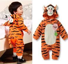 Baby Tiger Costumes Halloween Baby Kids Toddler Tiger Animal Bodysuit Romper Jumpsuit Piece