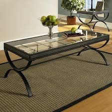 3 piece black coffee table sets emerson 3 piece coffee table set glass metal black dcg stores