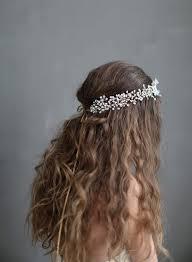 baby s breath wedding hair vine dramatic wispy baby s breath hair vine style