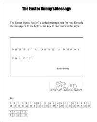 the easter bunny u0027s message u2013 printable easter worksheet jumpstart