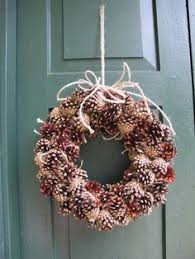 country style christmas pine cone wreath by deermeadows on etsy
