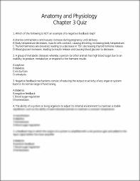 Quiz Anatomy Chapter Three Quiz Anatomy And Physiology Chapter 3 Quiz 1 Which