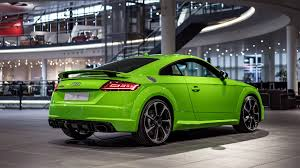 lamborghini limo inside 2017 audi tt rs in lime green looks like a tiny exotic car