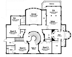 classical style house plan 5 beds 7 00 baths 5699 sq ft plan