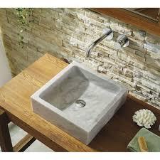 bathroom sink double sink rectangle vessel sink stone sink large