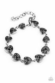 black heart bracelet images Paparazzi accessories no heart feelings black jpg