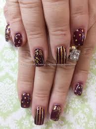 55 stylish brown nail art ideas blackwhite gold stiletto nail art